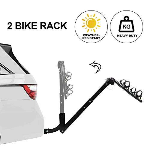 CAR DRESS 2 Bike Hitch Rack, Bike Carrier Quick Release 2 Inch Receiver Heavy Duty Bicycle Carrier Racks for Cars,SUV, Minivans