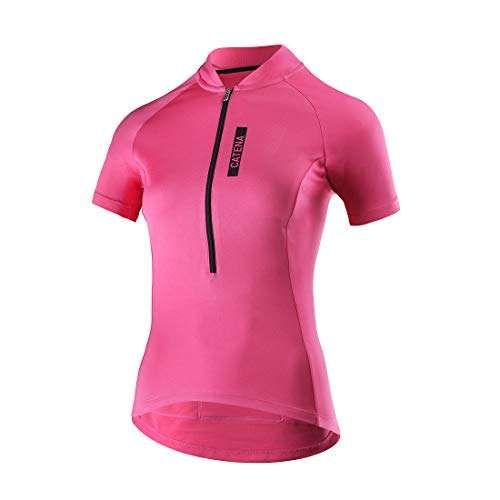 CATENA Women's Cycling Jersey Short Sleeve Shirt Running Top Moisture Wicking Workout Sports T-Shirt