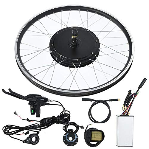"Caredy Ebike Conversion Kit, 48V 1500W 20"" E-Bike Conversion Kit, Cycling Hub Motor with Intelligent Controller, LCD Display and Speed Adjustable"