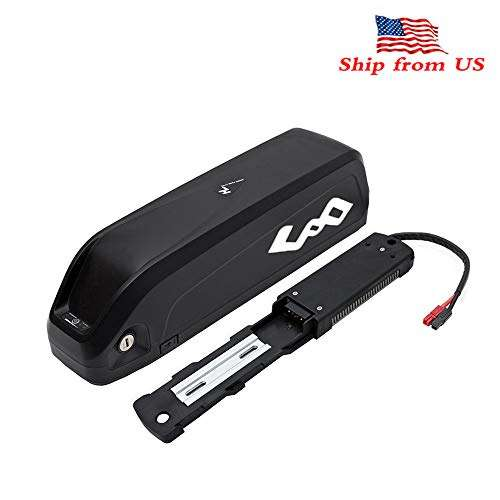 Co-well Ebike Battey, 48V 17.5AH Lithium Electric Bicycles Battery with Charger, USB Port, Safe Lock for 1000W 750W 500W Bike Motor Mountain Bike Ebike kit