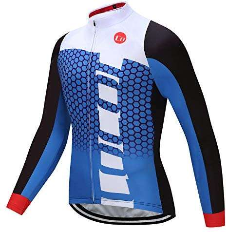 Coconut Ropamo Men's Long Sleeve Cycling Jersey Bike Shirt Bicycle Clothing Breathable
