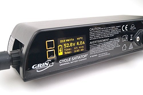 Cycle Satiator - Programmable Electric Bike Battery Charger - 24, 36, 48, 52 V