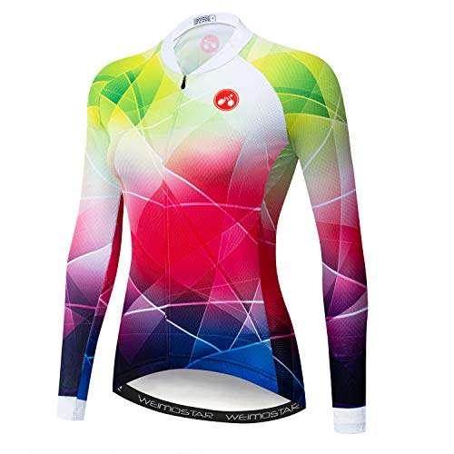 Cycling Jersey Women's Long Sleeve Top Sports Mountain Bike Shirt Bicycle Jacket