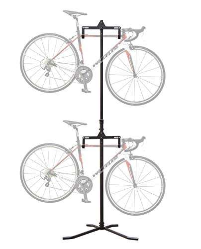 CyclingDeal 2-4 Bike Bicycle Vertical Hanger Parking Rack Gravity Floor Storage Stand for Garages or Apartments