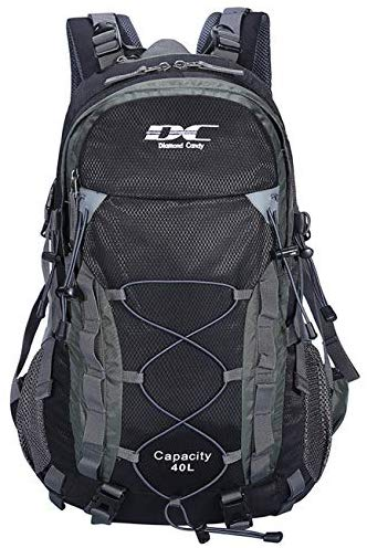 Diamond Candy Waterproof Hiking Backpack Outdoor Daypacks 40L with Raincover