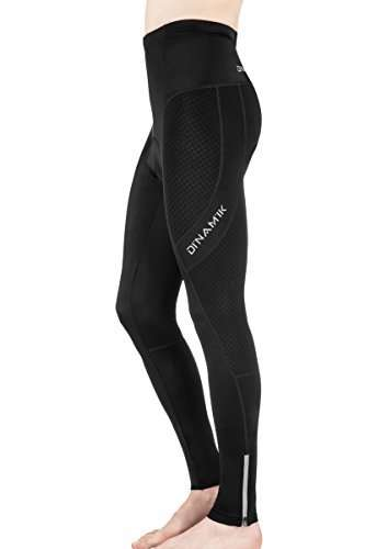 Dinamik Men's Cycling Tights, Extra Padded Long Bike Pants, Compression Ankle Length Active Leggings EVO PRO