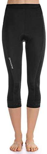 Dinamik Womens Cycling 3/4 Bike Tights Light Leggings Extra Padded Half Pants EVO PRO