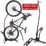 Dinsam Top Vertical Bike Rack Floor Stand, Indoor Bicycle Storage Mount, Bike Floor Stand - Fits Nearly All Standard Bikes & Frees 4 Feet of Floor Space … (FIT 20-27 Inch Bikes)
