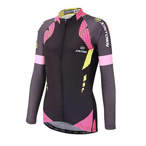 DuShow Women Bike Bicycle Cycling Long Sleeve Jersey Top Shirt