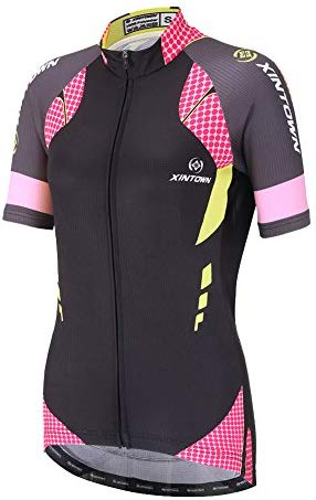 DuShow Women Cycling Jersey Short Sleeve Cycling Shirt Bicycle Bike Top