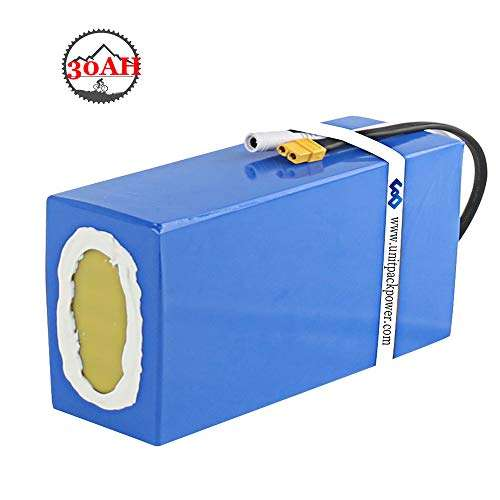 Ebike Battery 72V 30AH with Charger and 40A BMS Protection, Waterproof PVC Lithium Battery Pack for 2200W 2000W 1500W 1000W Bike Motor (10.24× 8.27× 5.9 in)