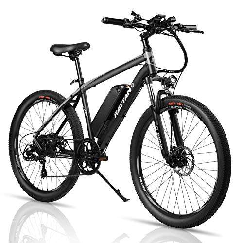 Electric Mountain Bicycle 350W E Bike 36V 10.4Ah Removable Lithium Battery 26 Inch E Bike for Men with ECO Motor Max 80 Miles Adult Assisted E-Bike 7 Speed E-Bike I-PAS Power Recharge System