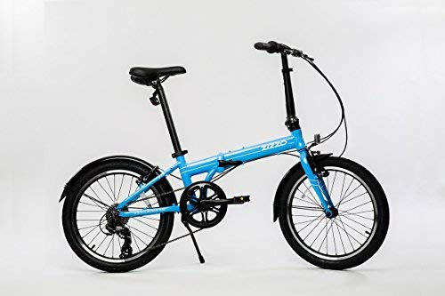 "EuroMini ZiZZO Via 27lb Folding Bike-Lightweight Aluminum Frame Genuine Shimano 7-Speed 20"" Folding Bike with Fenders"