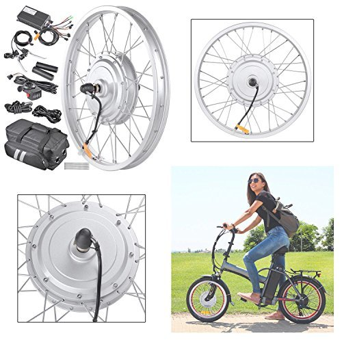 GC Global Direct 36v 750W 20 in Front Fat Tire Electric Bicycle E-Bike Motor Kit