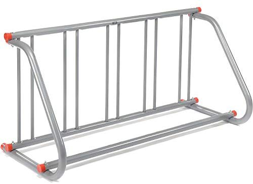 "Global Industrial 61-5/8""L Grid Bike Rack, Single Sided, Powder Coated Galvanized Steel, 5-Bike Capacity"