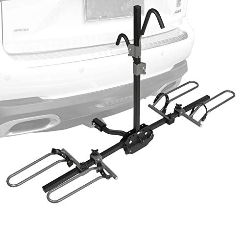 Gongde 2-Bike Hitch Mount Rack Double Foldable Bike Rack Platform Car Rear Bicycle Carrier Racks