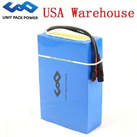 GoodPoint Art 48V 20AH E-Bike Lithium Battery Customized Waterproof PVC for 48V 1000W-1800W Motor (USA Warehouse) (48V 20AH)