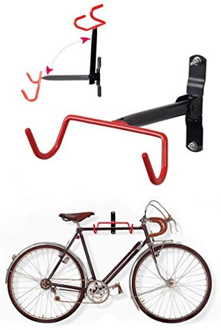HOMEE Bike Hanger Wall Mount Bicycle Rack Wall Hook Flip-Up Bike Holder Stand Storage System for Garage and Shed