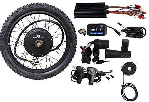 "HalloMotor 36V 48V 1500W 20"" 24"" 26"" 27.5"" 28"" 29er 700C Rear Wheel ebike Electric Bicycle Conversion Kits with 750C Colour Display"