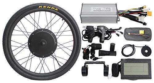 "HalloMotor 36V 48V 500W 20"" 24"" 26"" 28"" 29er 700C Front Wheel or Rear Wheel ebike Electric Bicycle Conversion Kits"