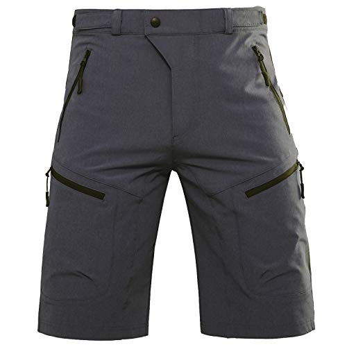Hiauspor Mens MTB Shorts Mountain Bike Shorts Water Repellent Baggy Half Pants with Pockets for Cycling Riding