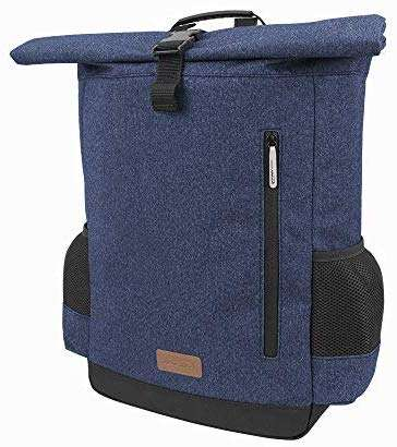 "Ibera Bike Pannier Backpack - 2 in 1 Bike Bag, Large Capacity 15 L with Foldaway Shoulders Straps, Protective Inner Sleeve for 15.6"" Laptop and Tablet"