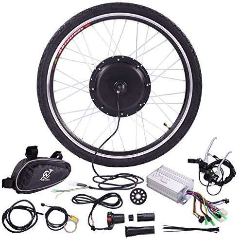 "JAXPETY 36V 500W Electric Bicycle Cycle 26"" E Bike Front Wheel Ebike Hub Motor Conversion Kit Hub Motor Wheel"