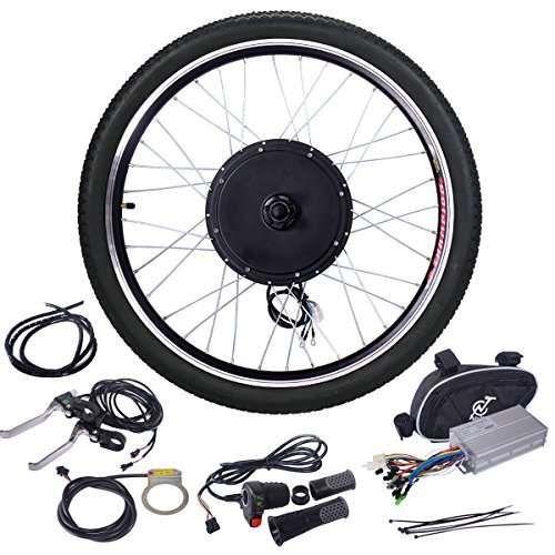 "JAXPETY 48V 1000W Electric Bicycle Cycle E Bike 26"" Front/Rear Wheel Ebike Hub Motor Conversion Kit Hub Motor Wheel"
