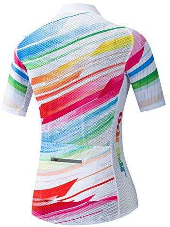 JPOJPO Bike Jersey Women, Racing Women's Cycling Shirt Tops S-3XL with 4 Pockets