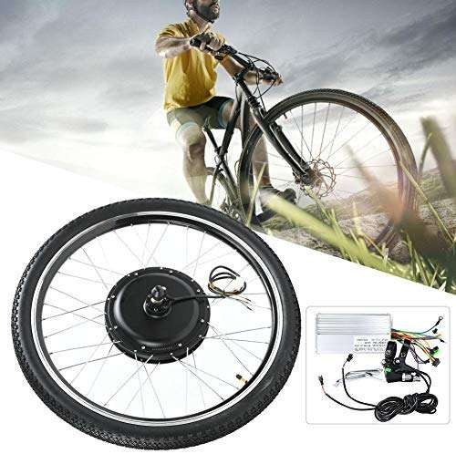 Jacksking Electric Bike Motor Kit, Aluminium Alloy 48V 1500W 26 Inch Electric Bicycle Ebike Conversion Hub Engine Motor Wheel Kit,Bike Motor Conversion
