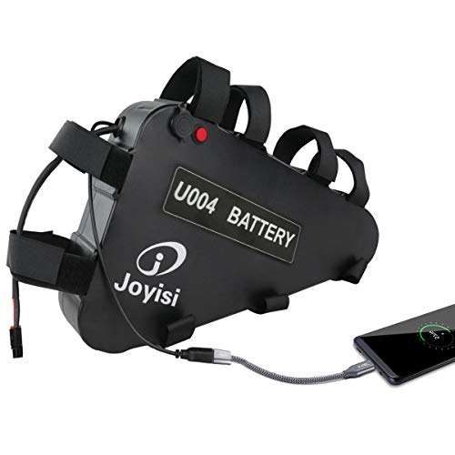 Joyisi 48V 15AH Ebike Battery, Lithium ion Bike Battery with USB Port, 30A BMS Protection Board and Charger for 1000W/750W/500W Bike Motor Kit