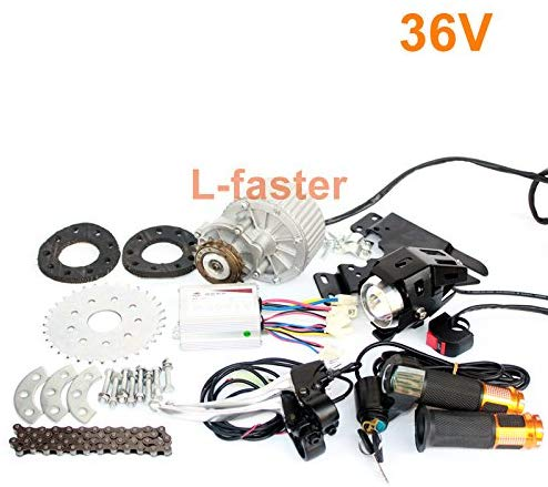 L-Faster Newest 450W E-Bike Motor Kit Electric Multiple Speed Bicycle Conversion Kit Electric Engine Kit for Multi-Speed Bicycle