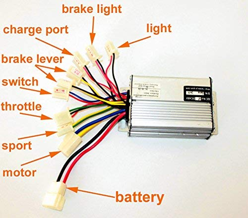 L-faster 36V48V 1000W Scooter Brush Motor Controller Motor Controller for Tricycle Scooter Brushed Controller