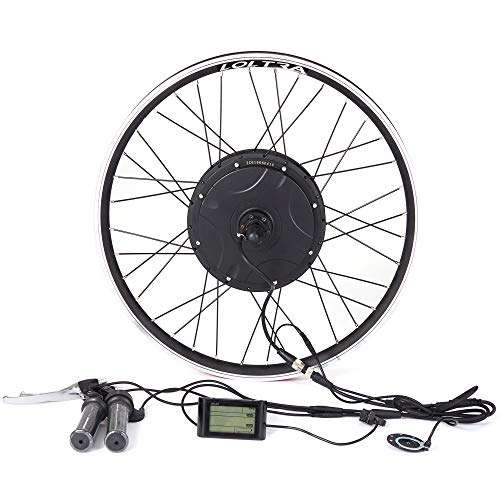 LOLTRA 48V Electric Bicycle Rear Wheel Conversion Kit with Built-in Controller 1000/1500W Brushless Hub Motor for MTB Ebike