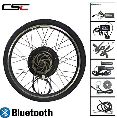 "LOLTRA Ebike Rear Wheel Bluetooth Conversion Kit for 20""/24""/26""/27.5""/28""/29"" 700C Mountain Electric Bicycle with 36/48V 250/350/500/100/1500W Brushless Hub and KT-LCD8 Display"
