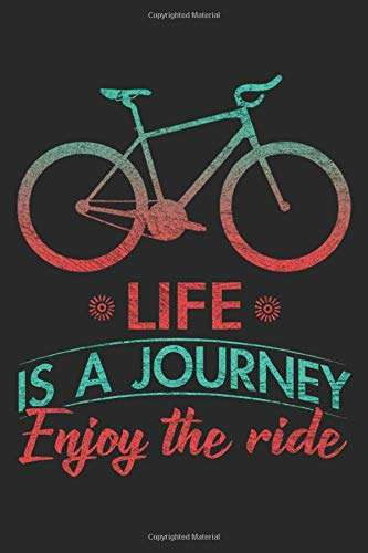 Life Is A Journey: Bicycle Notebook Blank Dot Grid Bike Journal dotted with dots 6x9 120 Pages Checklist Record Book Mountainbike Lovers Take Notes ... Gift for Bicycle And Mountain Bike Lover