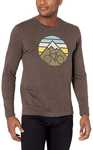 Life is Good Mens Bike Graphic T-Shirts Long Sleeve Collection