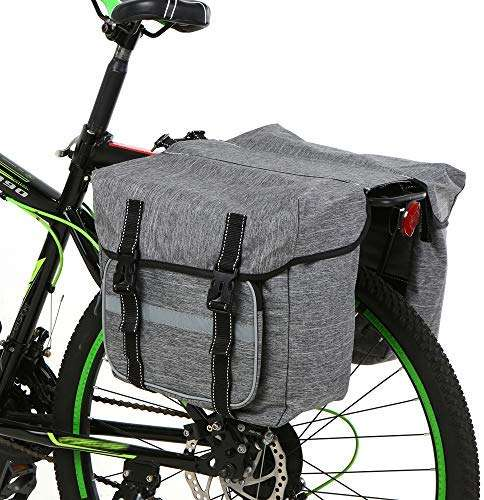 Lixada Bike Back Pannier Bicycle Rear Seat Bag Cycling Rack Grocery Pannier Road Bike Storage Bag