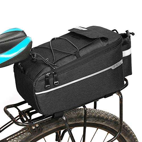 Lixada Insulated Trunk Cooler Bag for Warm or Cold Items,Bicycle Rear Rack Storage Luggage,Reflective MTB Bike Pannier Bag