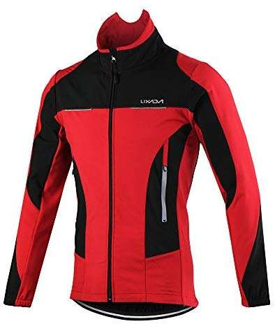 Lixada Men's Cycling Jersey Windproof Waterproof Winter Thermal Breathable Comfortable Long Sleeve Jacket Coat MBT Mountain Bicycle Riding Sportswear