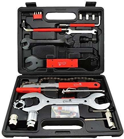 Lumintrail Bike Repair Tool Kit 42 Piece Multi Tool Bicycle Maintenance Tool Set with Tool Box
