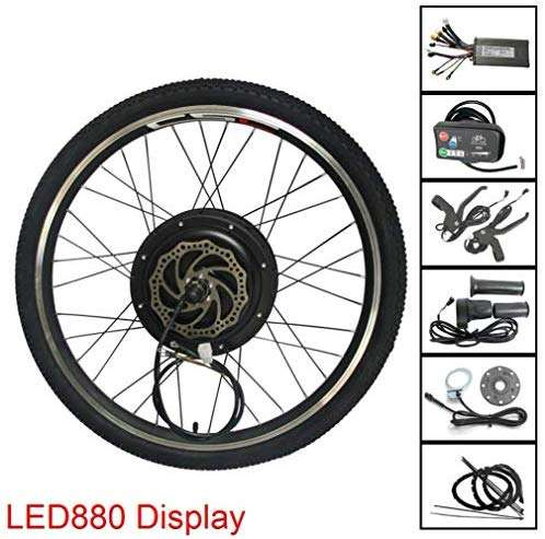 MTB E-Bike Conversion Kit 48V 500W 1000W 1500W Alloy Rim Mountain Bicycle Electric Bike Rear Wheel Conversion Parts with KT LED880 Display