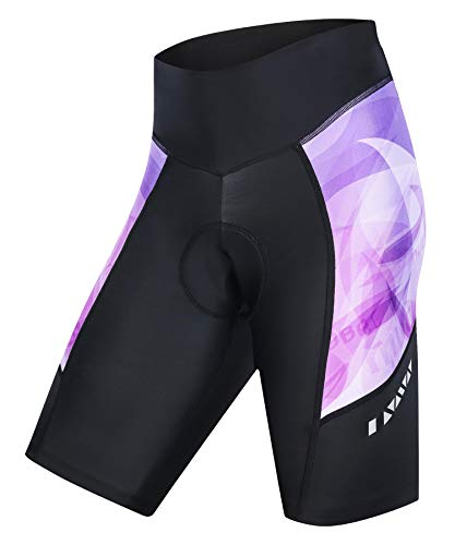 MUCUBAL Women's Bike Shorts with 3D Padded Compression Bicycle Shorts for Cycling