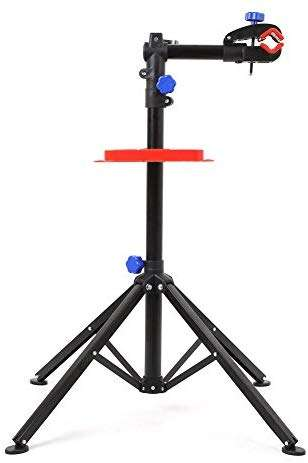 MVPower Pro Mechanic Bike Repair Stand Adjustable Height Bicycle Maintenance Rack Workstand With Tool Tray, Telescopic Arm Cycle