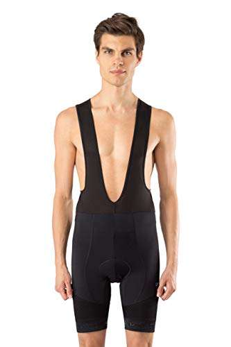 Men's Bib Bike Shorts- Light, Breathable, Gel Padded, Compression Cycling Pants - By Dinamik EVO PRO