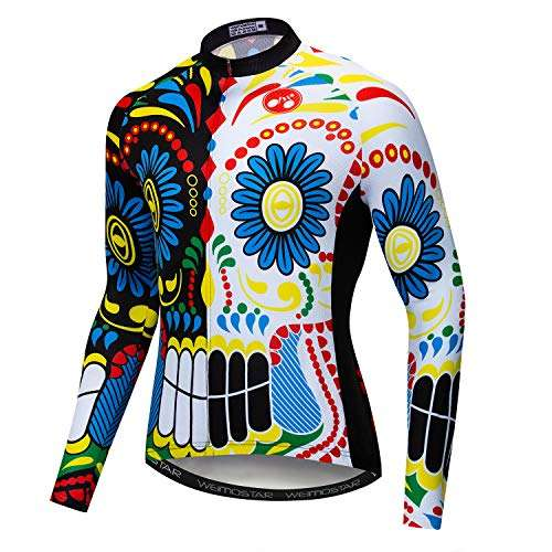 Men's Cycling Jersey Long Sleeve Biking Shirts Bike Bicycle Clothing
