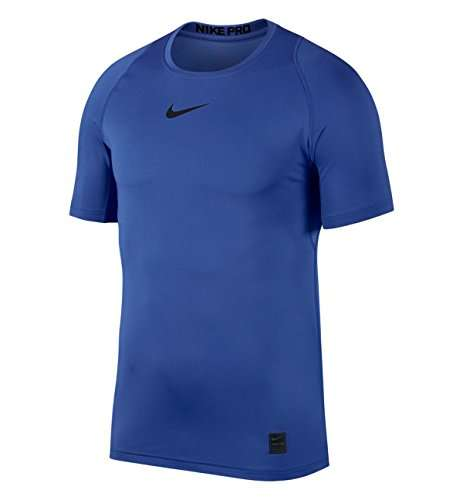 Men's Nike Pro Top Short Sleeve Fitted sz Large Game Royal Blue