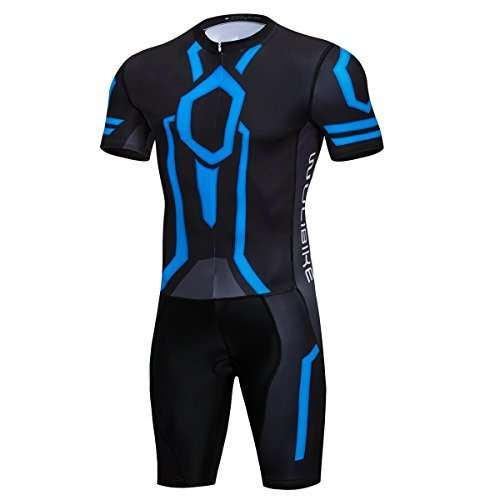 Men's Tron Cycling Jersey Set Bicycle Shirt and Bib Shorts Kit Sports Trisuit