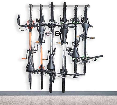 Monkey Bars Bike Storage Rack - Store Up To 6 Bikes - 300lb Weight Capacity Garage Bike Rack