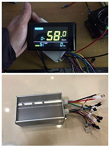 NBPower 48V-72V 60A 3000W Brushless DC Sine Wave Ebike Controller,Color Display VM960 For 3000W Brushless Motor and 3000W Electric Bike Kit.